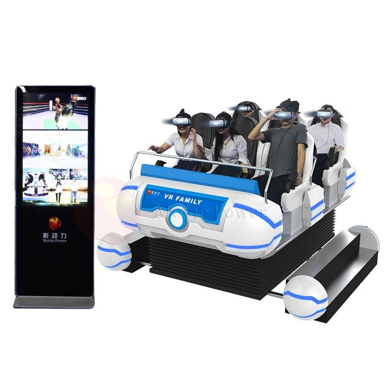 Earning Money Simulator Arcade Games 9d vr 6 Seats Electronic 6 dof Vr Family 9d Virtual Reality Vr Roller Coaster Equipment