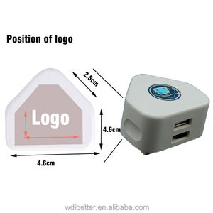 OEM Logo Universal 5V 2A (2000mA) UK 3 Pin USB Listrik Charger Adaptor Steker AC Switching Power Supply 12V 2a Charger Dinding Usb
