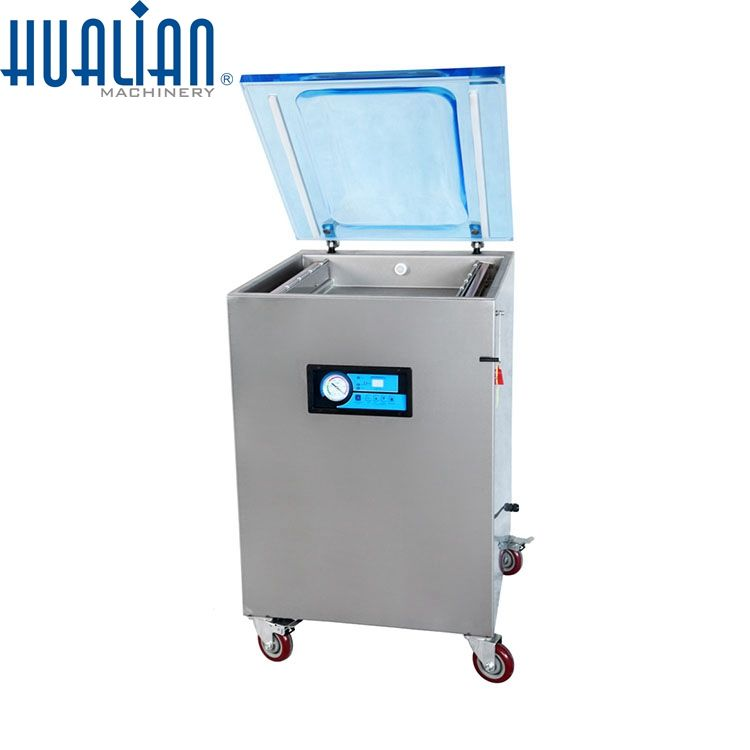 HVC-510F/2A-G HUALIAN Fish Dry Fruit Cheese Food Vegetable Single Chamber Thermoforming Automatic Vacuum Packing