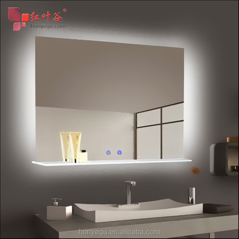 Far Infrared Mirror Panel Heater LED Electric Infrared Heating Panel With Touch Switches in Bathroom