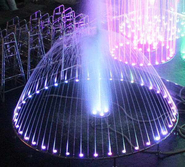 Guangzhou factory supply music large outdoor water dancing water fountain sample