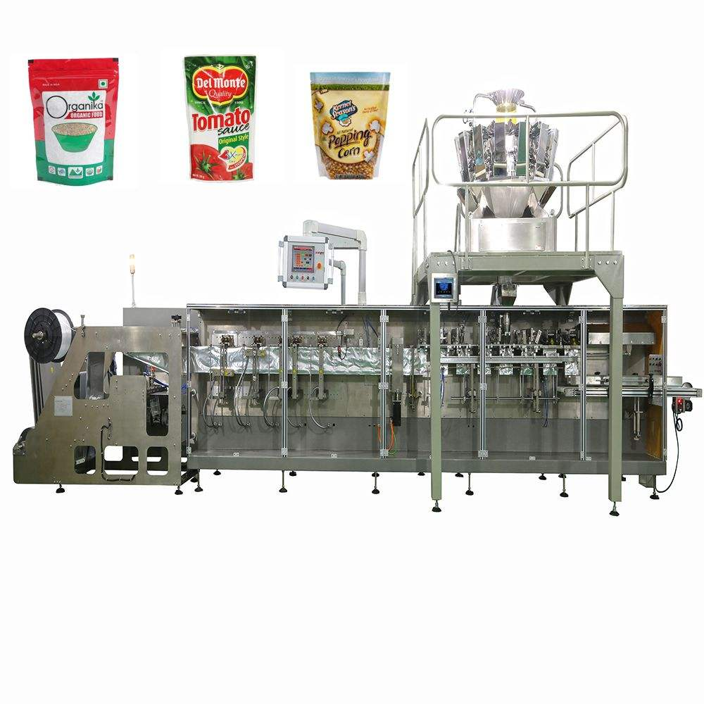 Best selling zipper bag doypack/stand up pouch filling and sealing packing machine for nuts/date/candy