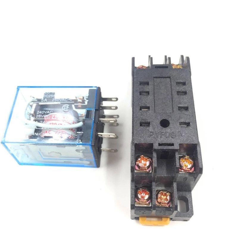 D 2Z HH52P Power Relay Green LED DPDT New MY2N-J 48V DC Coil 8Pin JZX-22F