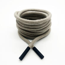 Wholesale round cotton drawstring cord with ends for sweatpants