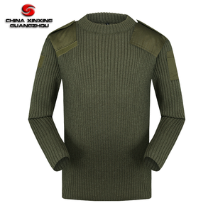 Custom military Army soldier's pullovers wool knitted sweater for men