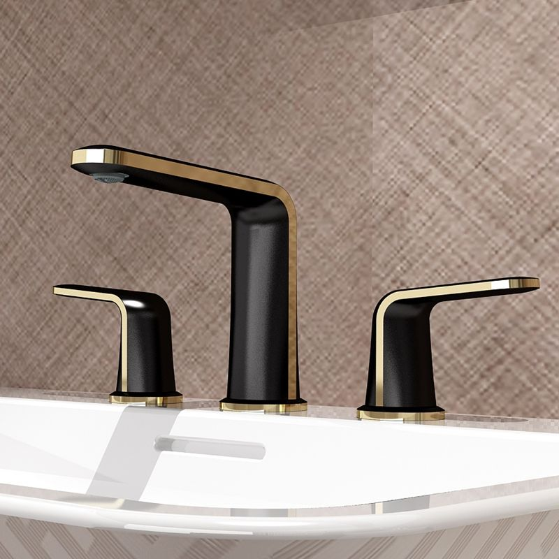 Bathroom new product luxury water tap 3 hole basin mixer
