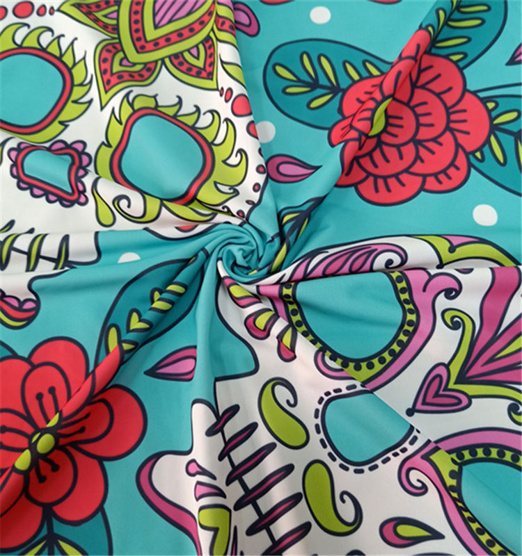 Fashion printed UPF swimwear & beachwear neoprene swimwear fabric