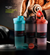 buying online in china PP one touch protein shaker flip top shaker water bottle