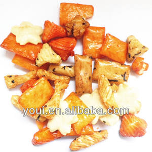 Hot Fried Rice Crackers Snacks