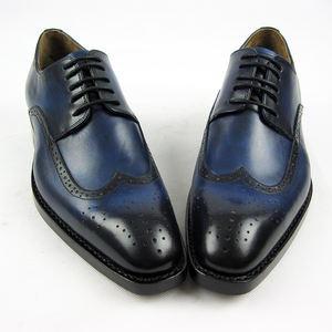 Brogue diseño blake costura hecha a mano cuero de vaca goodyear welt zapatos