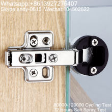 Glass door Clip-on Soft-closing Hinge, hydraulic hinge, Foshan Shunde hinge hardware supplier