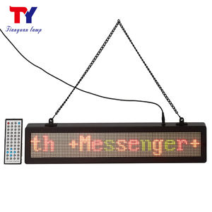 Indoor reclame kleine led display screen, mini screen led running bericht display