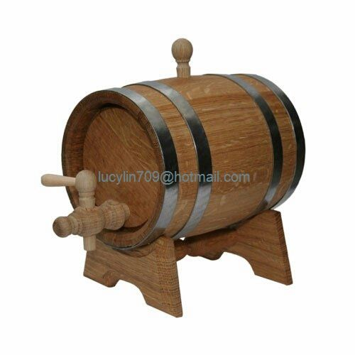 5L Oak Barrel Wooden Barrel for Storage or Aging Wine & Spirits Wine Barrels Wine Holder