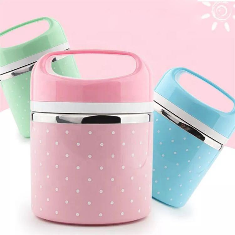 Stackable Stainless Steel Thermal Lunch Box 3-Tier Insulated Bento Box Food Container for Kids Adults Women Men