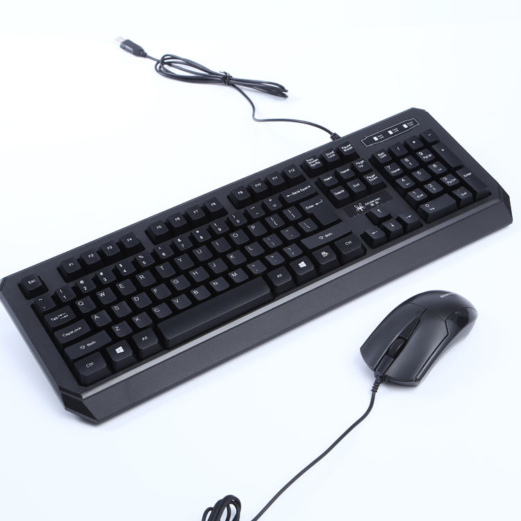 China dongguan wholesale cheap price computer mac profile wired custom keyboard mouse combo with free samples for computer