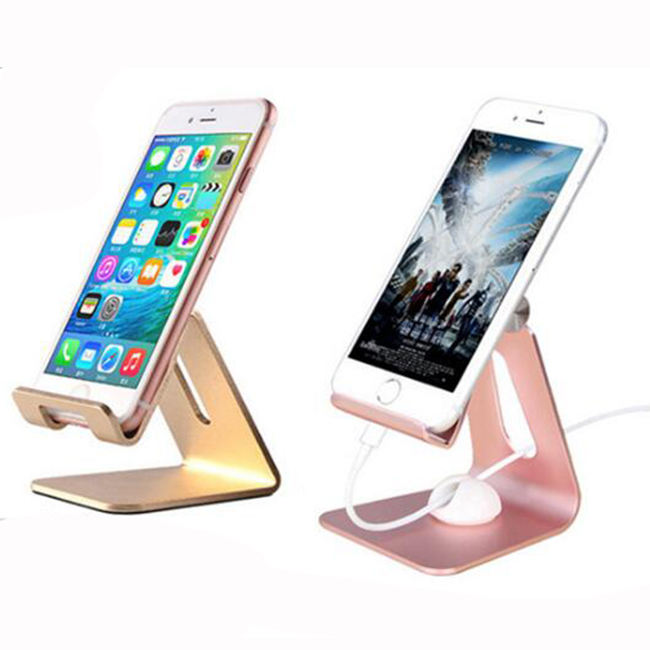 newly style hot sale Aluminum alloy charge design desktop mobile car phone holders for cell phone