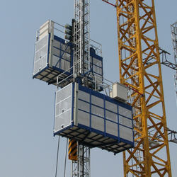 Rack and Pinion Construction Hoisting Elevator, CE Approved