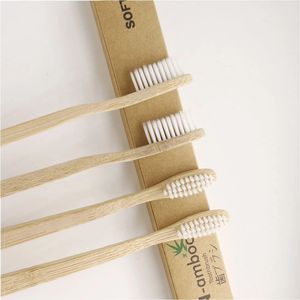 Pack Of 4 biodegradable private label manufacturer children 100 custom organic bamboo tooth brush