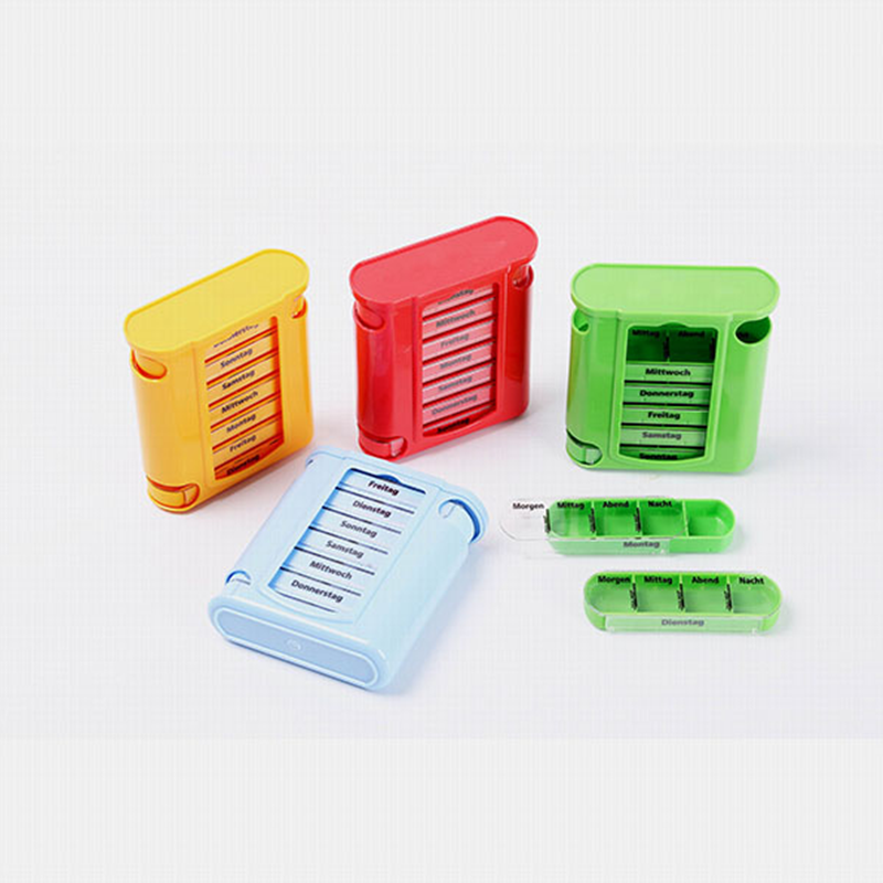 7 Days Plastic Weekly Pill Box,Pill Case,Vitamin Box With Pill Cutter