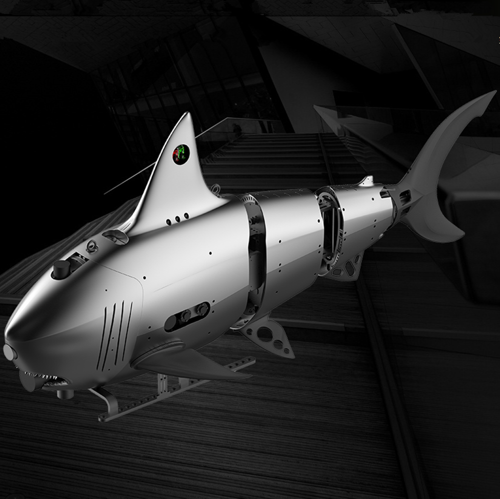 High-speed, low-noise marine bionic underwater robot, underwater detection robot fish