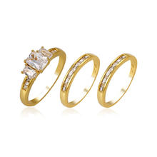 14127 Xuping gemstone jewelry, luxury set ring diamond ring