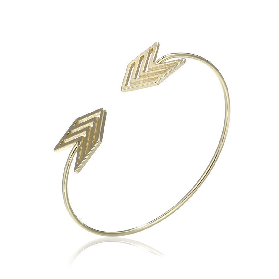 51861 xuping fashion vogue jewellery simple latest in gold women arrow bangle designs