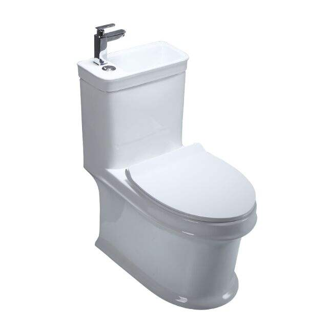 WRAS Certificated RT fitting New design combination toilet with basin Water saving basin toilet
