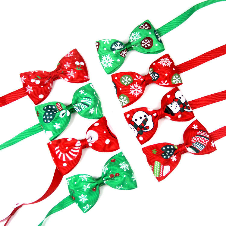 Wholesale cheap christmas pet bow tie