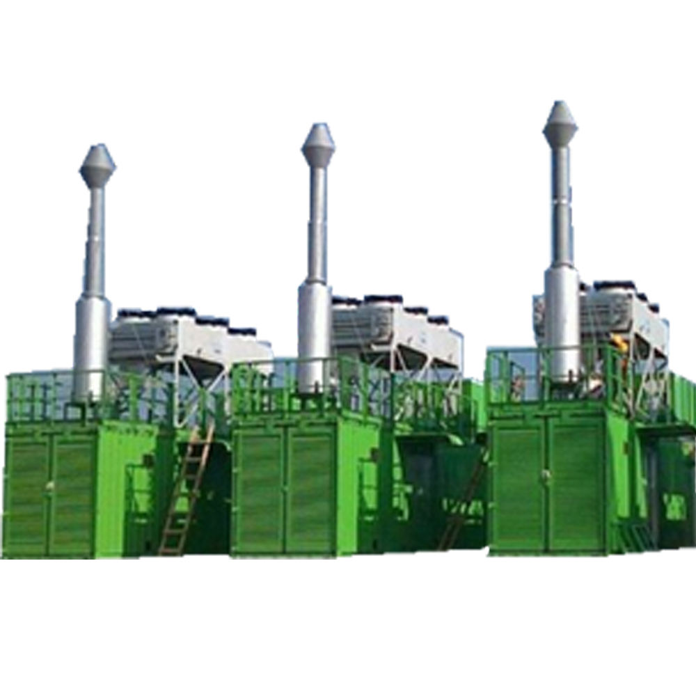 1 mw 2 mw container stille type CNG/LNG/aardgas turbine generator