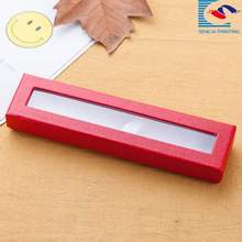 wholesale recycled empty cardboard suitcase gift pen boxes with window
