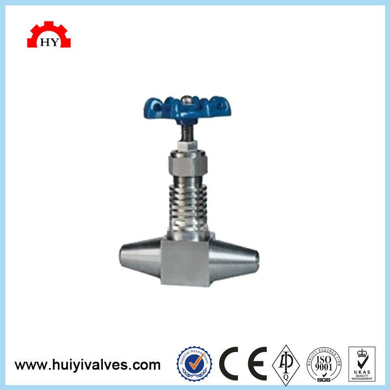 Moindre coût hydraulique en acier au carbone soufflet étanche température haute pression droite autoclave compact soudage bout à bout aiguille va