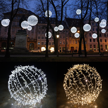 LED Christmas lights outdoor hanging 3D sphere Xmas ball Christmas lighted sphere balls