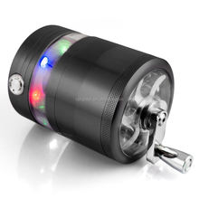 XY358272-6 1Pc Electric Light LED 63MM Aluminum Metal Herb weed tobacco Grinder