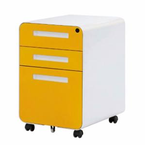 office furniture 3 drawers metal cabinet colourful round edge steel mobile pedestal file cabinet