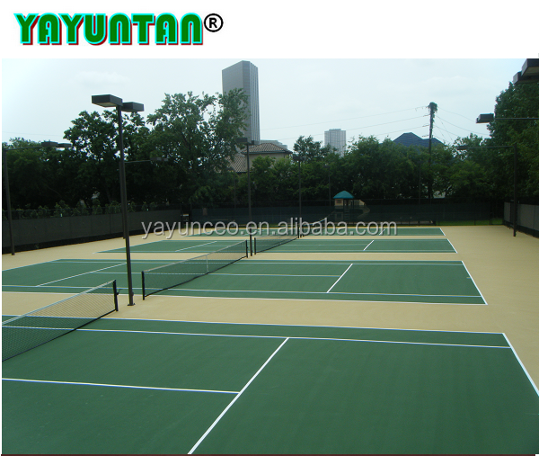 Acrylic Rubber Multi-purpose Sport Court Flooring / Tennis Court/Badminton Court Flooring Surface