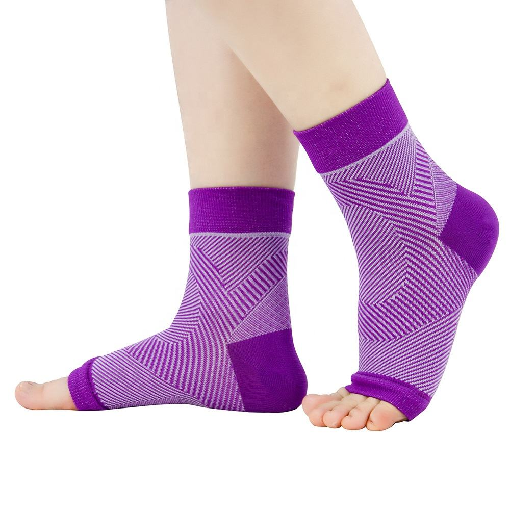 hot sell elastic band foot sock ankle brace support soccer shin guard