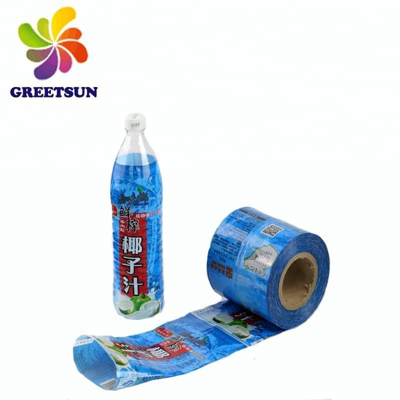 Kustom PET/PVC Plastik Shrink Packaging Label Botol/Botol Kaca Shrink Cover