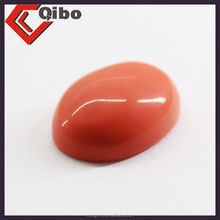 synthetic red coral cabochons oval shape 13*18