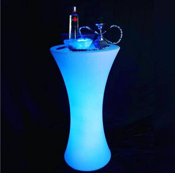 China Outdoor Led Glow Furniture led bar table