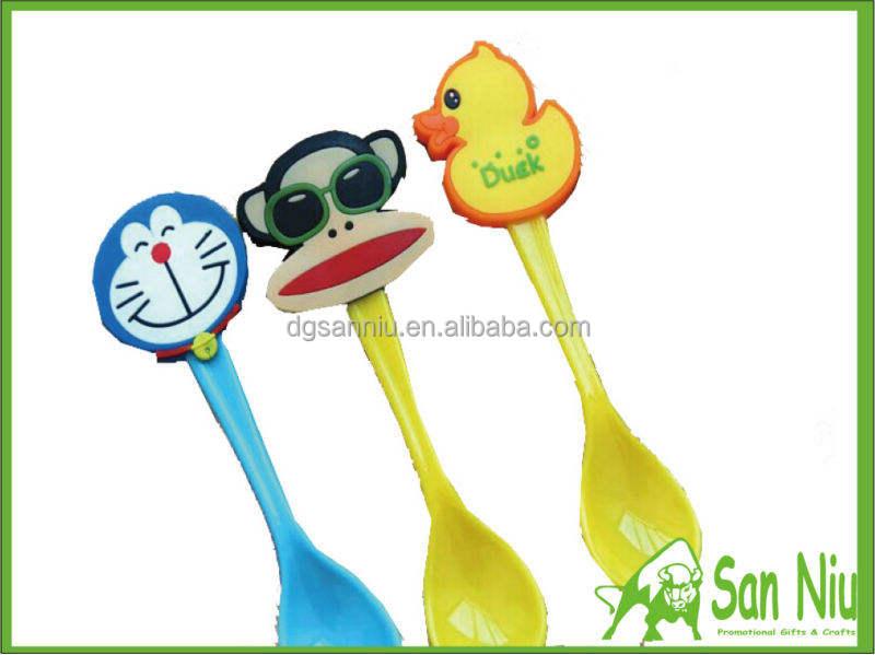 Новая детская лечение кухня пластиковая ложка ПП ковш с ПВХ мультфильм животных Топ рисунок