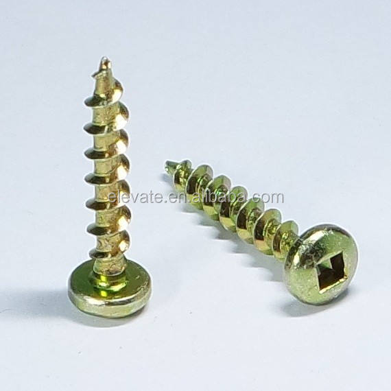 Pan Head Square Drive Sharp Point Coarse Thread Particle Board Screw