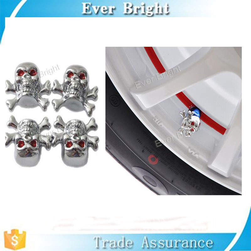 Customized skull antitheft air caps / antitheft valve caps for cars and motorcycle