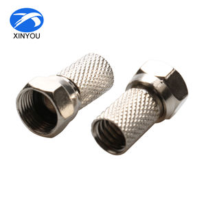 Zink Rf-coaxkabel Connector F Type Man Twist Op Connector RG6