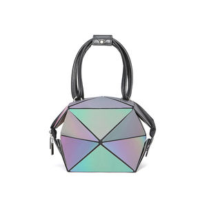 Geometric Luminous 4IN1 lantern Handbags Lattice Eco-Friendly Changeable Holographic Purse Women's Messenger Bags