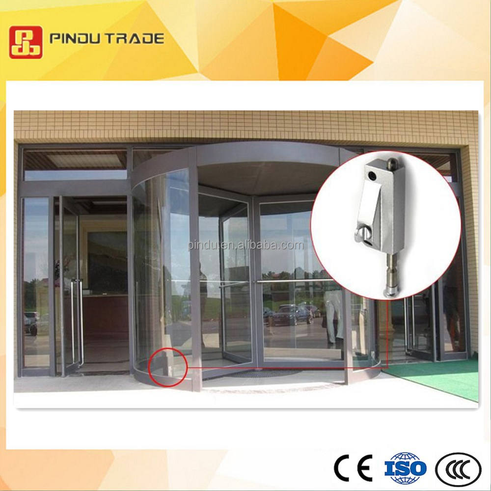 mortise bottom glass door lock for revolving door