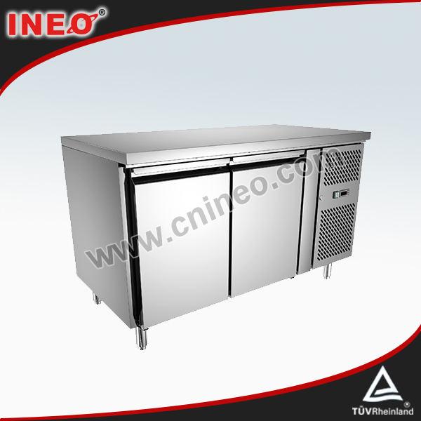 2 porta in acciaio inox commerciale sottopiano panificio freezer/barca freezer/pesce freezer