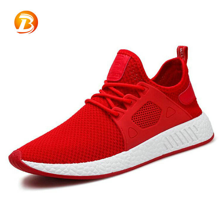 New design stylish summer red color durable mens shoes casual
