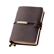 Hot Selling High Grade Vintage A5 Hardcover Leather Notebook Travel Planner Notebook