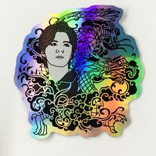 Brand Promotion Waterproof Reflective Glitter Customized Hologram Stickers