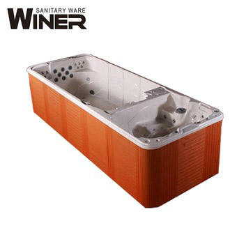 Winer spa bath outdoor spa products Freestanding acrylic outdoor whirlpool massage bath/bathtub used swimming spa